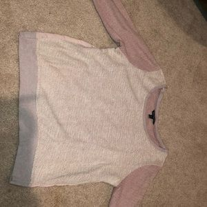 Pink two toned knit sweater